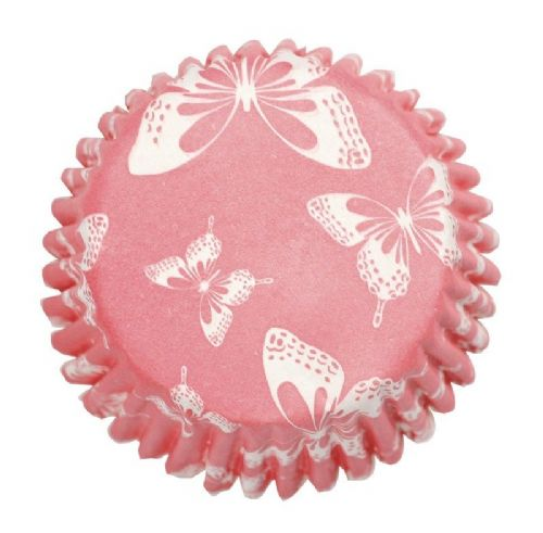 Blush Butterfly Printed Baking Cases